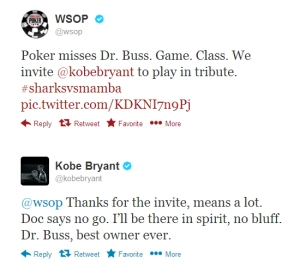 Kobe Bryant talks to WSOP
