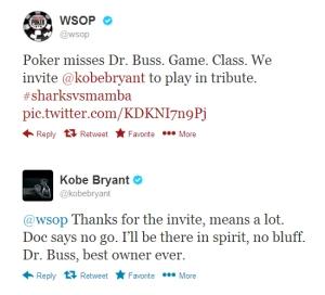 Kobe Bryant talks to WSOP
